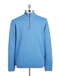 Tommy Bahama Reversible Zip Up Pullover Blue Sea