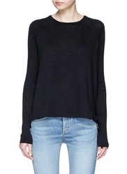 Rag And Bone 'Camden' Long Sleeve Knit T Shirt Black