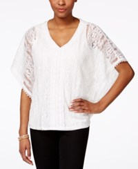 Styleandco. Style And Co. Crochet Poncho Top Only At Macy's Winter White