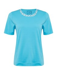 Tigi Short Sleeve Round Neck Jersey Top Ice Blue