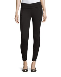 Three Dots Seamed Fold Over Waist Leggings Black