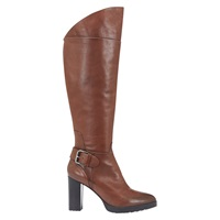 Mint Velvet Angie High Heel Knee Boots Camel Leather