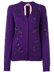 N 21 No21 Embellished Cardigan Pink Purple