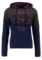 Desigual Long Sleeved Top Coffee Bean Dark Blue