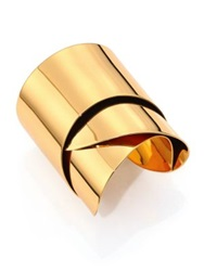 Alexis Bittar Miss Havisham Liquid Geometric Ribbon Cuff Bracelet Gold