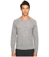 Todd Snyder Wool Rib Raglan Light Grey Heather Men's Sweatshirt Gray