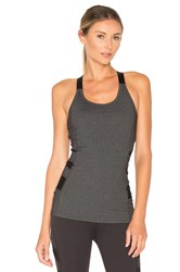 Beyond Yoga Triple Mesh Tank Charcoal
