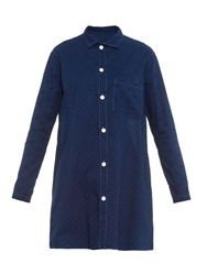 Y's By Yohji Yamamoto Dot Print Cotton Shirtdress