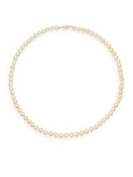 Saks Fifth Avenue 6 6.5Mm Golden Akoya Pearl Strand Necklace 17.5 Gold Pearl