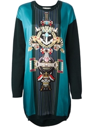 Mary Katrantzou 'Pigeon Medal' Sweater Dress Green