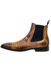 Melvin And Hamilton Boots Classic Wood Yellow Sand Navy Brown