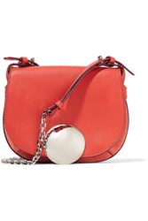 Emilio Pucci Leather And Suede Shoulder Bag Red