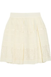 Alice By Temperley Fleur Lace And Georgette Mini Skirt