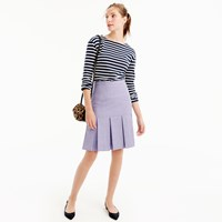 J.Crew Petite Box Pleated Skirt In Wool Flannel