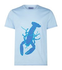 Vilebrequin Thom Embroidered Lobster T Shirt Male Blue