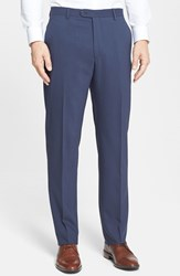 Santorelli Men's Big And Tall Flat Front Travel Trousers French Blue
