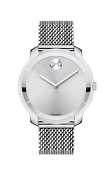 Movado 'Bold' Mesh Strap Watch 36Mm Silver