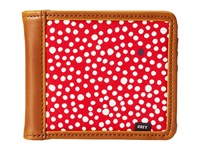 Obey Journey Bi Fold Wallet Red Multi Wallet Handbags
