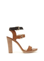 Mint Velvet Tan Jess Ankle Strap Sandal Brown