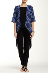 Romeo And Juliet Couture Fringe Kimono Blue