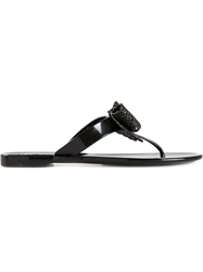 Salvatore Ferragamo Toe Thong Sandals Black