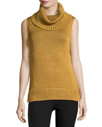 Rag And Bone Adele Sleeveless Ribbed Top Gold