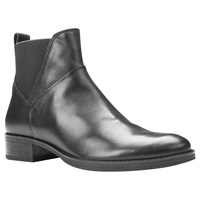 Geox Mendi Stivali Chelsea Ankle Boots Black Leather