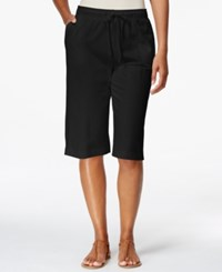 Karen Scott Drawstring Skimmer Shorts Only At Macy's