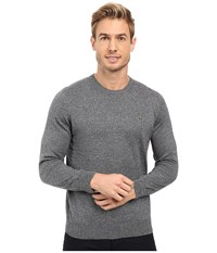 Lacoste Segment 1 Cotton Jersey Crew Neck Sweater Navy Blue Mouline Men's Sweater Gray