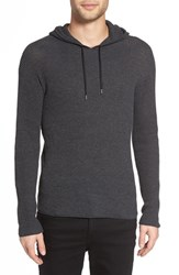 John Varvatos Men's Star Usa Thermal Pullover Hoodie Graphite