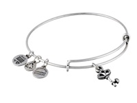 Alex And Ani Skeleton Key Charm Bangle Rafaelian Silver Finish Bracelet