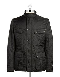 Barbour Fleece Lined Quilted Coat Black