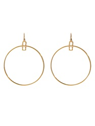 Diane Von Furstenberg Chain Link Hoop Gold Plated Earrings