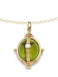 Temple St. Clair Diamond Peridot And 18K Yellow Gold Locket Pendant