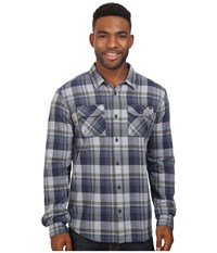 Fox Traildust Long Sleeve Flannel Indigo Men's Clothing Blue