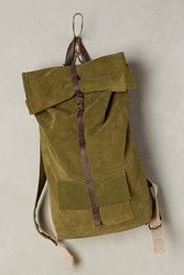 Anthropologie Mum's Rolled Backpack Green