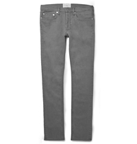 Sandro Slim Fit Washed Denim Jeans Gray