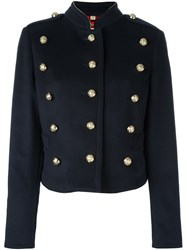 Burberry Triple Button Military Jacket Black