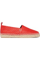 Loewe Embossed Leather Espadrilles