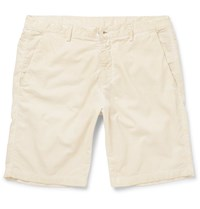 Massimo Alba Vela Cotton Corduroy Shorts Neutrals