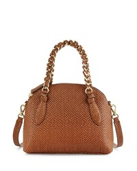 Foley Corinna Tiggy Snake Embossed Leather Crossbody Bag Coco
