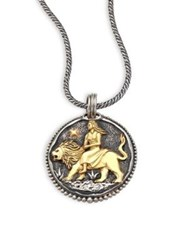 Konstantino Zodiac 18K Yellow Gold And Sterling Silver Coin Pendant Silver Gold