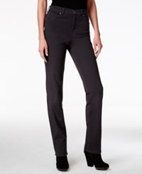 Styleandco. Style Co. Tummy Control Colored Wash Straight Leg Jeans Only At Macy's Carbon Grey