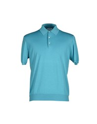 Ballantyne Knitwear Jumpers Men Turquoise