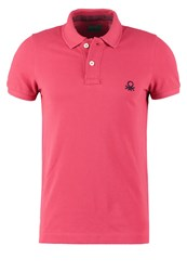 United Colors Of Benetton Muscle Fit Polo Shirt Pink