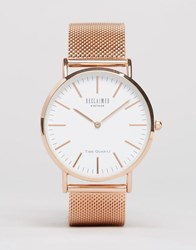Reclaimed Vintage Classic Mesh Watch In Rose Gold Gold Silver