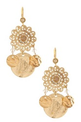 Liz Palacios Crystal Disc Dangle Earrings No Color