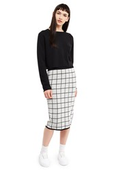Esprit By Opening Ceremony Reversible Skirt Black Multi