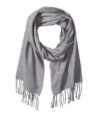 Calvin Klein Solid Woven Scarf Heathered Mid Grey Scarves Blue