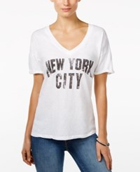 Retro Brand Nyc Graphic T Shirt White